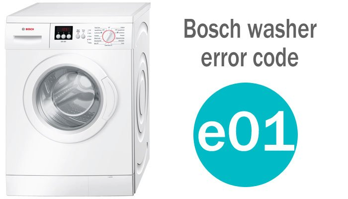 Bosch washer error code e01