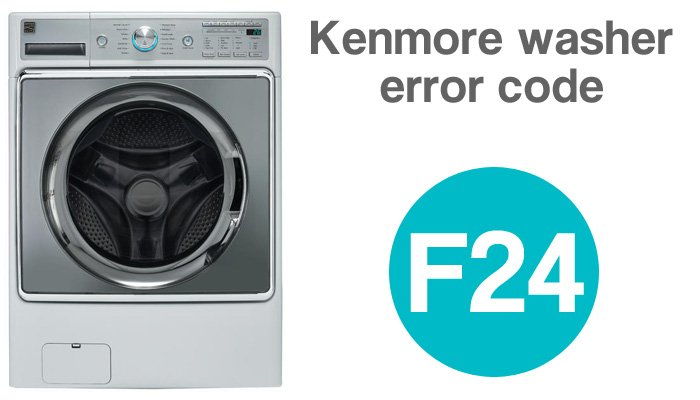 Kenmore he2 plus front load washer error code f24