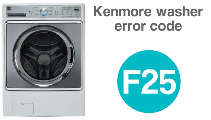 Kenmore washer error code f25