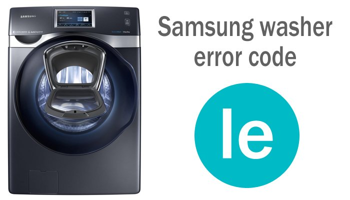 Samsung washer error code le