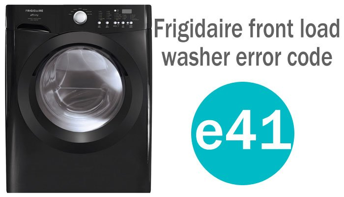 Frigidaire front load washer error code e41