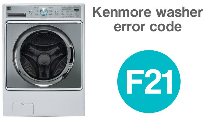 Kenmore washer error code f21