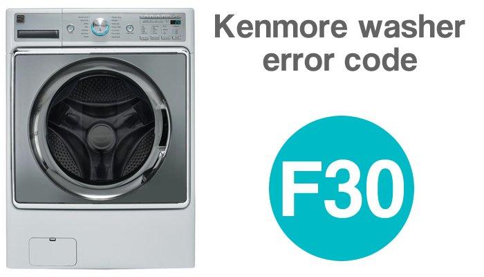 Kenmore washer error code f30
