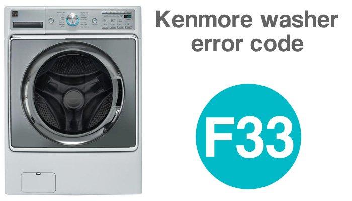 Kenmore washer error code f33
