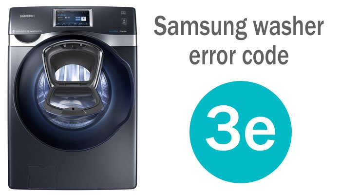 Samsung washer error code 3e