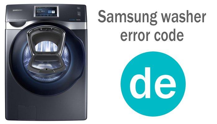 Samsung washer error code de
