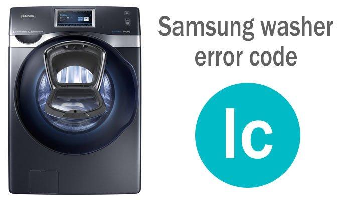 Samsung washer error code lc