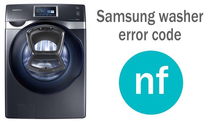 Samsung washer error code nf