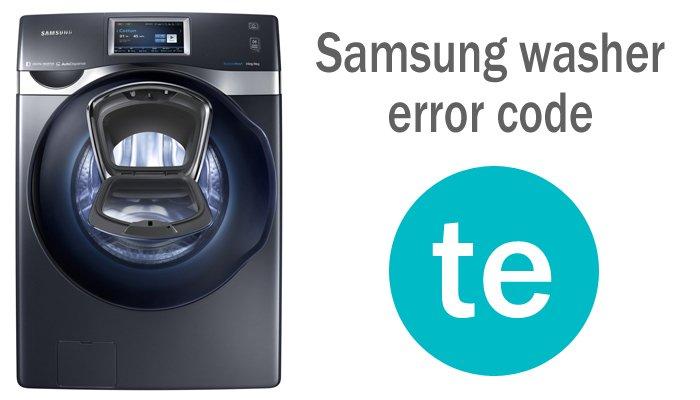 Samsung washer error code te