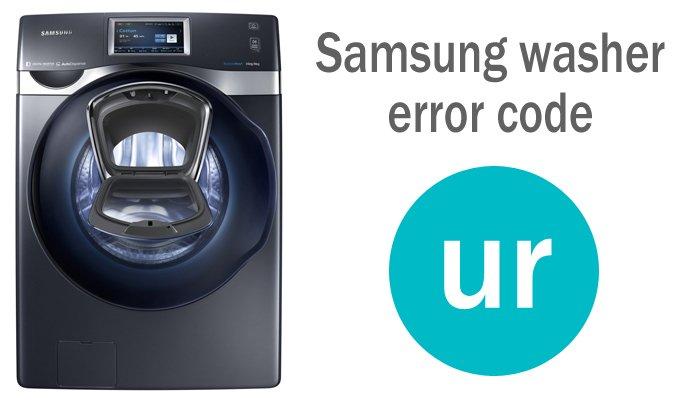 Samsung washer error code ur