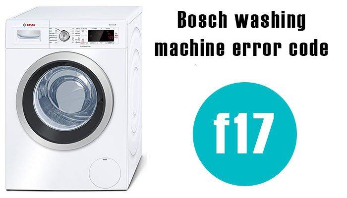 Bosch washing machine error code f17