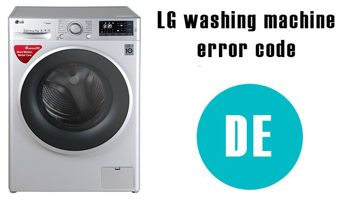 DE error code on lg washing machine