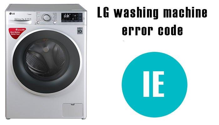 LG washer ie error