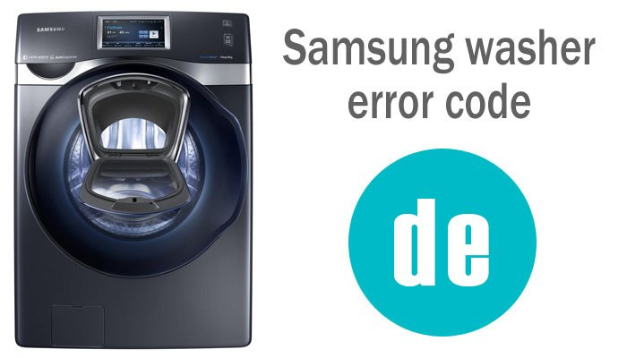 Samsung washing machine error code DE