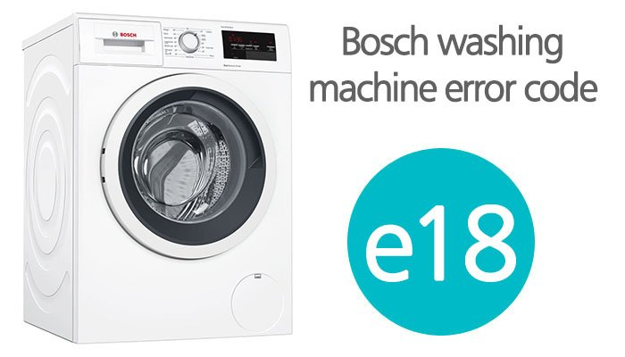 Bosch washing machine error code e18