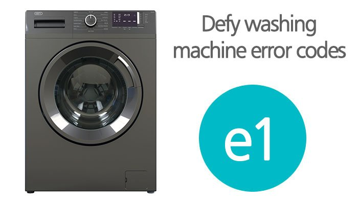 Defy washing machine error codes e1