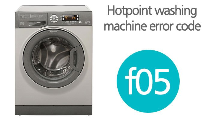 Hotpoint washing machine error code f05