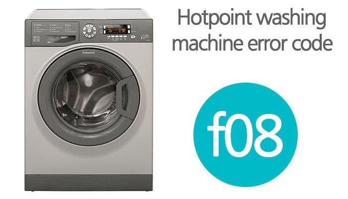 Hotpoint washing machine error code f08