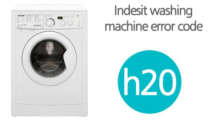 Indesit washing machine h20 error code