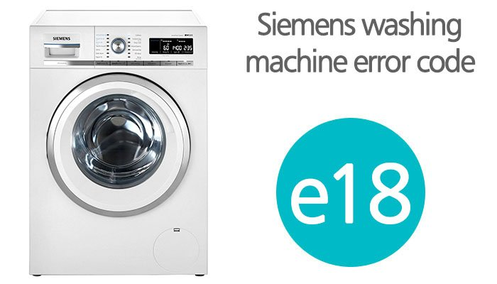 Siemens washing machine error code e18