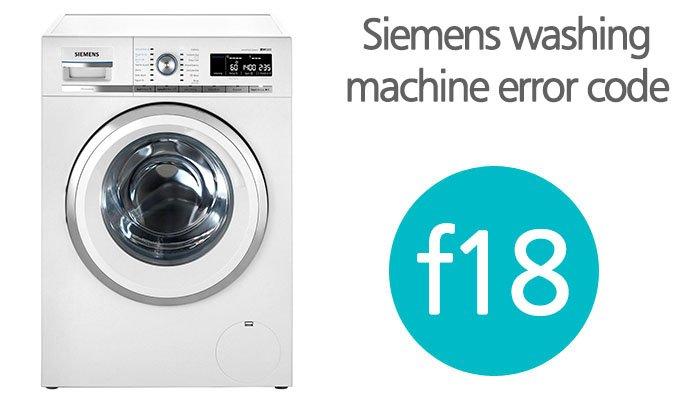 Siemens washing machine f18 error code