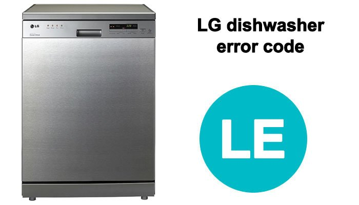 LG dishwasher error code le