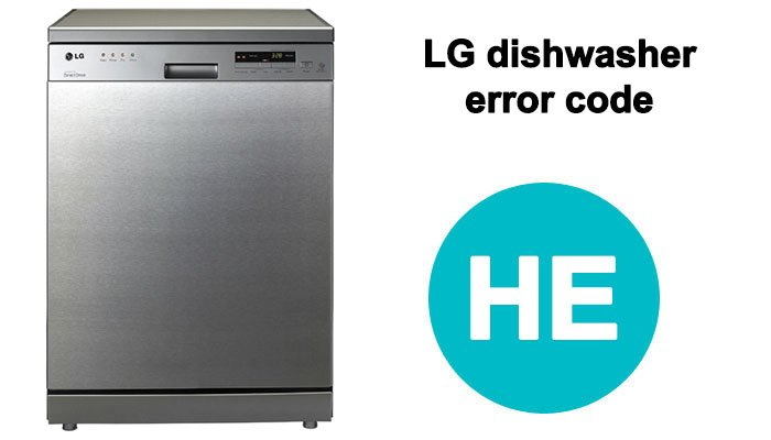 LG dishwasher he error
