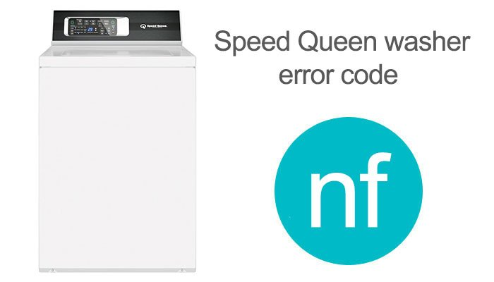 speed queen error code nf