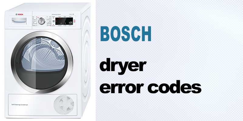Bosch dryer error codes