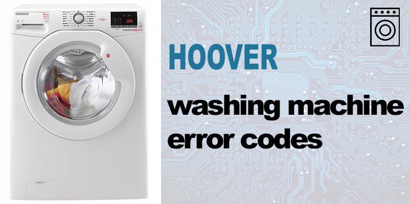 Hoover washer error codes