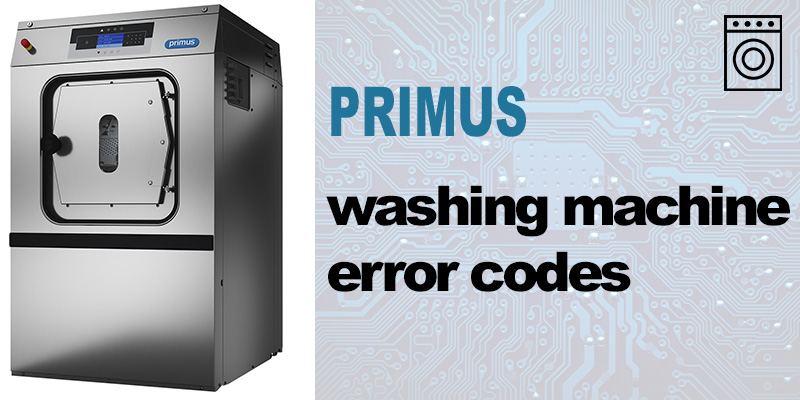 Primus washing machine error codes