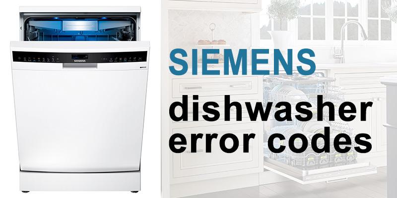 Siemens dishwasher error codes
